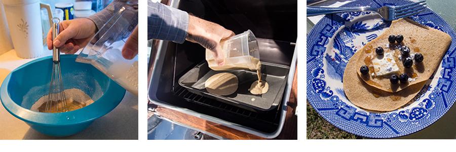 Sun Oven pancakes